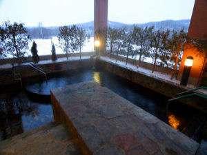 【露天風呂】冬の露天風呂もまた格別です。祝!道東道開通で釧路まで近くなりました!