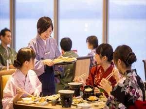 『絶景と癒しの宿』 雨晴温泉 磯はなび:会席料理と食べ放題料理が融合した「磯はなびダイニング」をお楽しみください!