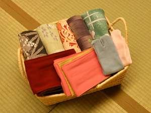 女性は浴衣を5種類からお選び頂けます