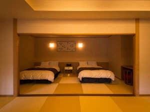 スイートルーム檜扇(ひおうぎ)ベッドルーム