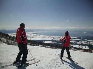 花きりん:絶景スキー!
