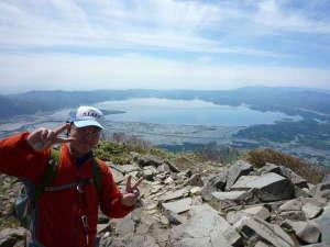 花きりん:磐梯山の頂上!猪苗代湖を全貌!