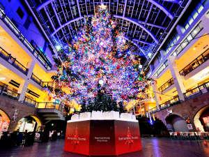 ホテルクラビーサッポロ:目の前のショッピングモールにあるイルミネーション4万個ジャンボクリスマスツリー!(11/3~)