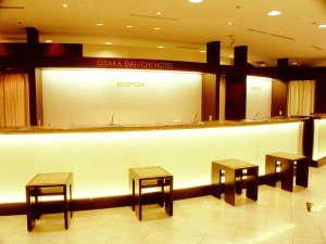 大阪第一ホテル:〇落ち着いた雰囲気のフロントから笑顔でお迎えさせていただきます。