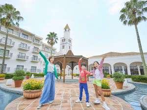 ホテル志摩スペイン村:ホテル中庭