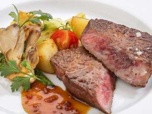 浄土ヶ浜パークホテル:前沢牛ステーキ付きプラン 一例