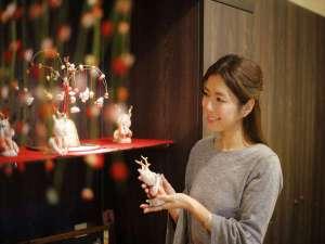 奈良町家 和鹿彩 別邸:館内には可愛いオリジナルの小物たち。奈良らしく鹿グッズがお越しをお出迎えします
