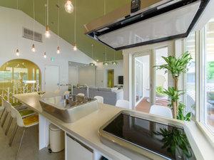 HOLIDAY HOUSE グリーンガーデン:グランスイートPUUキッチンからリビング
