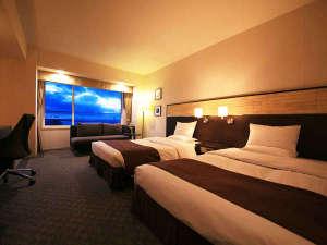 シーサイドホテル舞子ビラ神戸:■バスビュー付デラックスツイン■36㎡。各フロアに1室しかない貴重な角部屋。大切な人と特別なひと時を