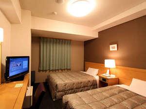 天然モール温泉 ホテルルートイン帯広駅前:ツインルームは、ご夫婦に最適!添寝のお子様とご一緒にいかがですか?
