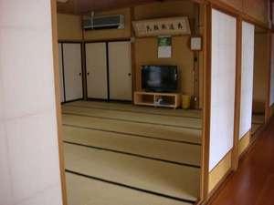 宿坊神林勝金:広い部屋が主ですが、一人用とか小さい部屋もあります。