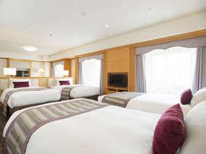 ホテル日航関西空港:ビジネスクラストリプル&フォースルーム68平米(ベッドルーム)