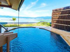 双泉の宿 朱白(すはく):2016年リニューアル♪大浴場「湖眺(こちょう)の湯」露天風呂(白の泉)