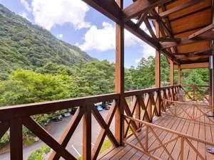 成川渓谷休養センター:*和室10畳(客室一例)/専用のテラスからは成川渓谷を一望。癒しの休日をお過ごしいただけます。