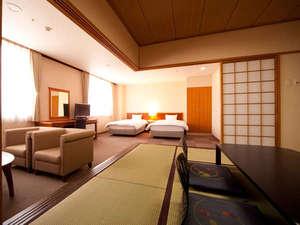 菊南温泉ユウベルホテル:【本館和洋室】和室があり、小さなお子様連れに適しています。