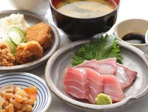西明石リンカーンホテル:刺身定食(無料夕食一例)