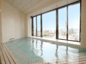 西明石リンカーンホテル:天気が良ければ≪明石海峡大橋≫が窓の外!最上階「展望大浴場」(男性限定)は、【17時~25時迄】