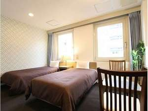 ホテルリブマックス東京木場:ツインルーム!ベッド幅100×195cmです!