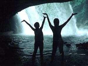 杖立温泉 旅館 日田屋(熊本県阿蘇郡):滝の裏側から^^鍋ヶ滝~^^