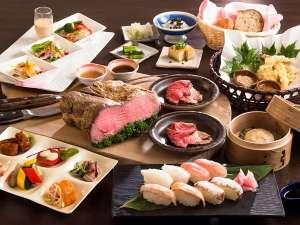 斑尾東急リゾート ホテルタングラム:◆夕食バイキング 和洋中40種類のお料理が食べ放題!!*イメージ