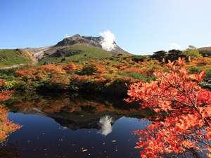 ホテルサンバレー那須:【那須岳(茶臼岳)】山頂周辺の紅葉風景