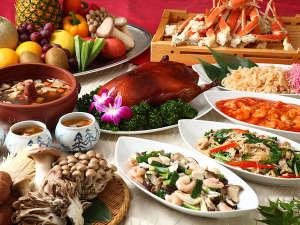 ホテルサンバレー那須:松茸をはじめキノコとカニを使ったメニューがずらり!オリエンタルガーデン「万里」バイキングイメージ