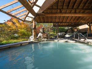 ホテルサンバレー那須:秋色に染まる本館大浴場「湯遊天国」10月下旬~11月上旬頃