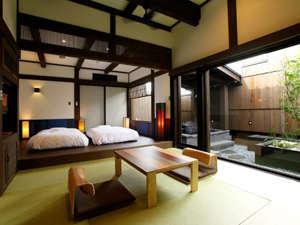 湯の宿 入船:それぞれに趣きの違う、2つの露天付きデザイナーズ客室