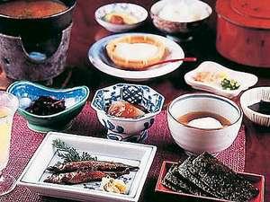 源泉かけ流しの宿 金龍園:朝食(一例)