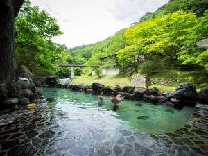 大沢温泉 湯治屋 :新緑の中でのご入浴お楽しみください