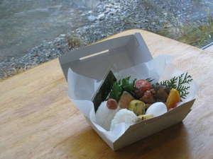 山水館 川湯 きのくに:川湯きのくに朝食サービス弁当(写真は参考で有り内容が異なる場合がございます)