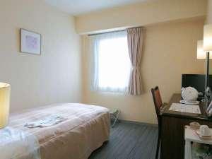 ホテルブライトイン盛岡:やわらかな色合いのレディースルーム。女性のお客様に大人気です☆