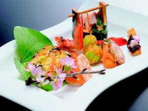 旅染屋 山いち:目でも楽しめる前菜例