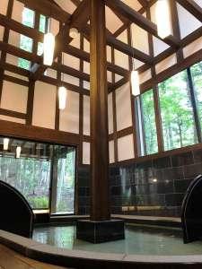 鬼怒川温泉 遊水紀行 ホテル大滝:古民家共同浴場、蔵の湯・男内湯