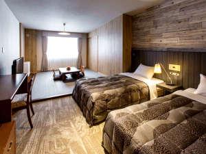 ラフォーレ倶楽部 ホテル白馬八方:スタンダード和洋室。最大4様までご利用いただけます。お二人でも、ファミリー・グループでも♪
