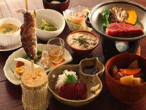 のりくらの宿舞:*【夕食一例】四季折々の山の幸が懐かしい、心に残る創作料理をご用意致します。