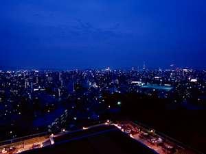 眼下に広がるパノラマ夜景