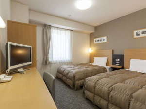 コンフォートホテル釧路:2ベッド◆ツインエコノミー◆18平米◆123cm幅ベッド2台