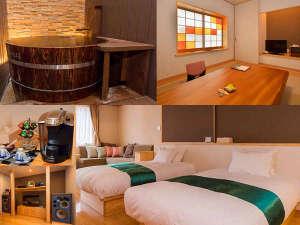 旅館 大和屋:25畳の和洋室「佐嘉の間」で過ごす大人の贅沢な時間・4尺樽風呂・オーディオ名機・最高品質アメニティ
