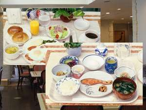 ホテルサンルートパティオ大森:朝食は洋食or和食で選択。 どちらも日替わりで連泊でも安心!ボリュームあります!!