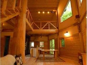 コテージ蒜山の森~コンセプトログハウスでリラックス!:●コテージ蒜山の森●白壁ログ