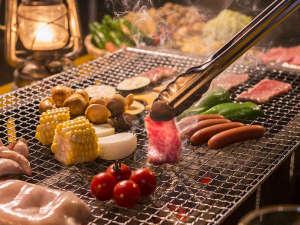 コテージ蒜山の森~コンセプトログハウスでリラックス!:みんなでワイワイBBQ!!食欲全開・パワーも全開。