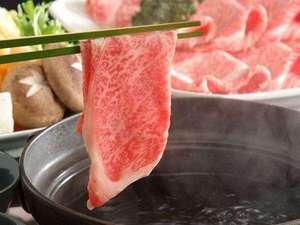 旭川旭岳温泉 湯元 湧駒荘:極上黒毛和牛サーロイン使用、出汁しゃぶしゃぶ!極上のお肉を極上のお出汁でどうぞ!