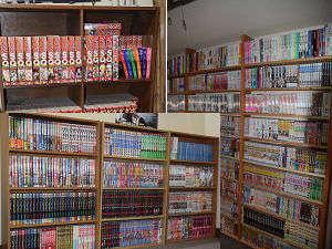 温泉民宿 酋長の家:館内にはコミックが1500冊以上!