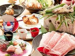 あその旅宿 鷹の庄:特別懐石料理熊本県産の黒毛和牛使用