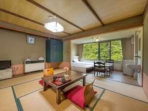 塩原温泉 6つの貸切露天 渓流の湯宿 柏屋旅館:和洋室10畳鹿又渓谷を一望