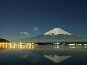 秀峰閣 湖月:真夜中の逆さ富士