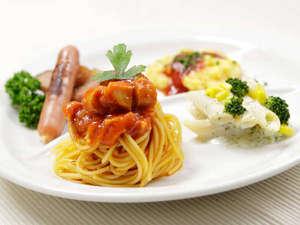 三井ガーデンホテル上野:朝食ブッフェ盛り付け例(洋食)