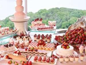 グランドプリンスホテル広島:50種類のスイーツ食べ放題!いちごバイキング