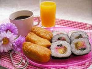 ホテルレックス立川:朝食(いなり・巻寿司)